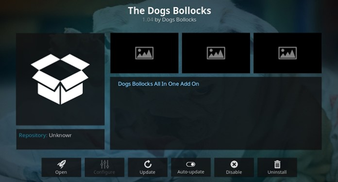 The Dogs Bollocks Kodi Addon