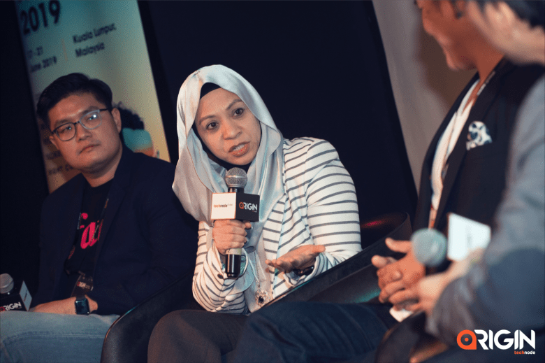 Aiza Azreen Ahmad, director of strategic partnership at Boost, at TechNode Global's ORIGIN conference on payment solutions.