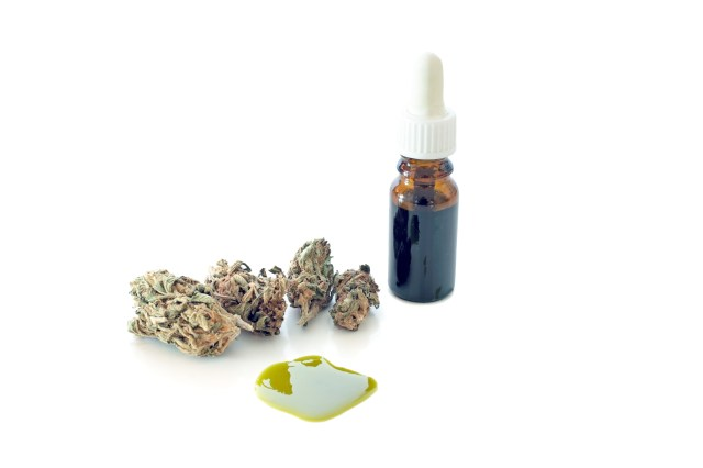 A cannabis tincture created using alcohol-based extraction.