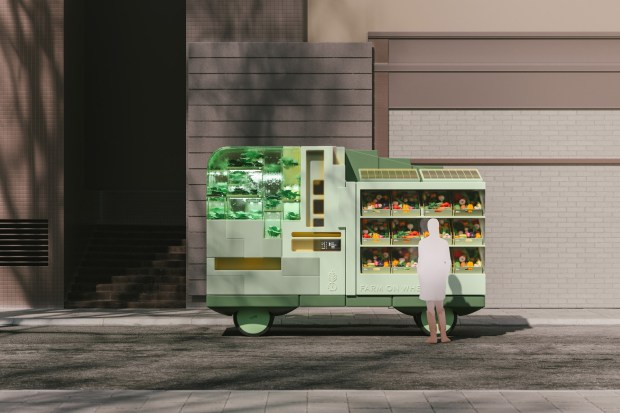Rendering of Ikea's Farm on Wheels
