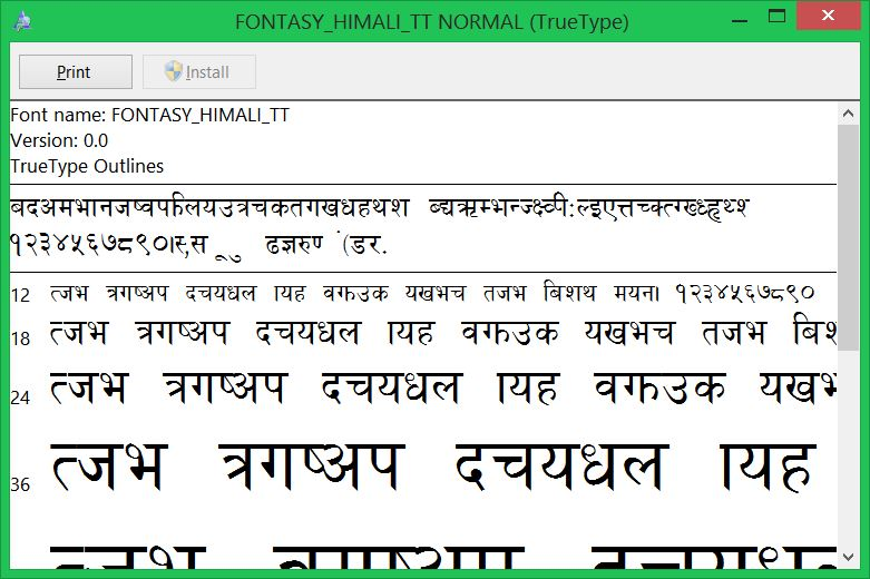 All Nepali Fonts - download and install in Windows, Mac & Ubuntu