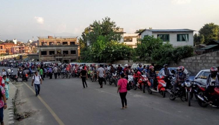 Fuel crisis in Nepal infinity queue for petrol in Kathmandu
