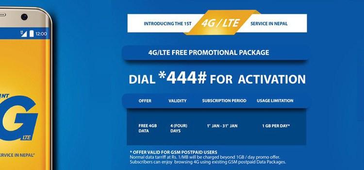 Nepal Telecom 4G LTE offer
