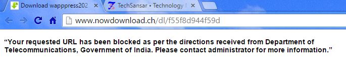 URL blocked message government direction