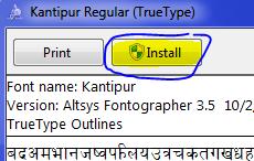 Install Nepali font