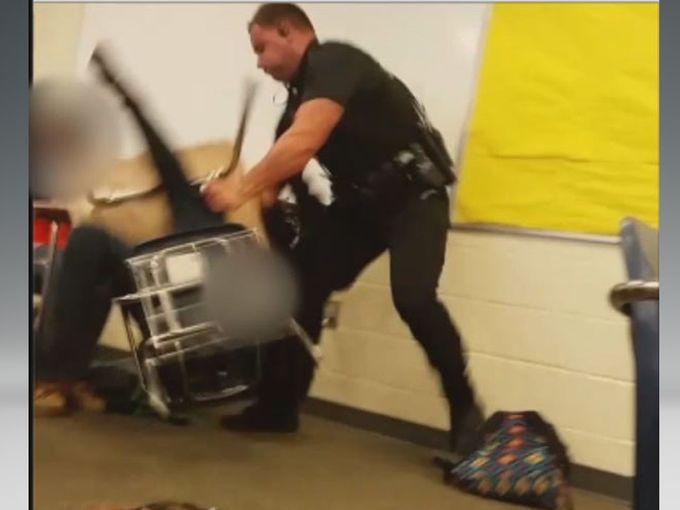 A video still shows part of an incident involving Deputy