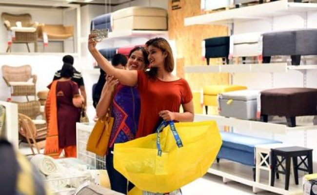 Crowds Throng Sprawling Ikea Store In Hyderabad