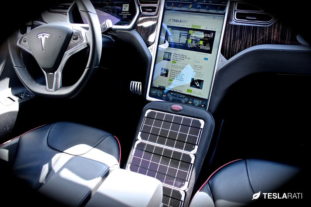 Fuse Box Mobile Integrating Portable Solar Panel Technology Into The Tesla