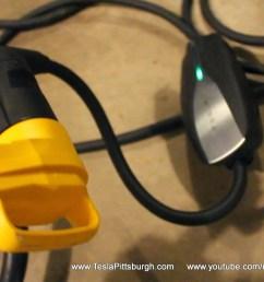 tesla umc extension cord 90 degree plug [ 1600 x 900 Pixel ]