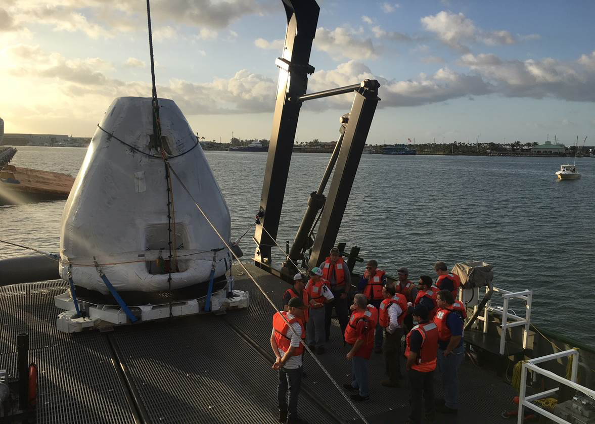 SpaceXs Crew Dragon Spacecraft Recovery Ship Gets A