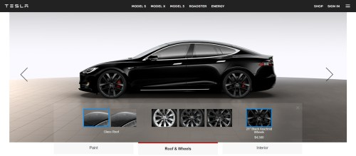 small resolution of tesla adds black arachnid wheel and ventilated seats to p100d trim levels