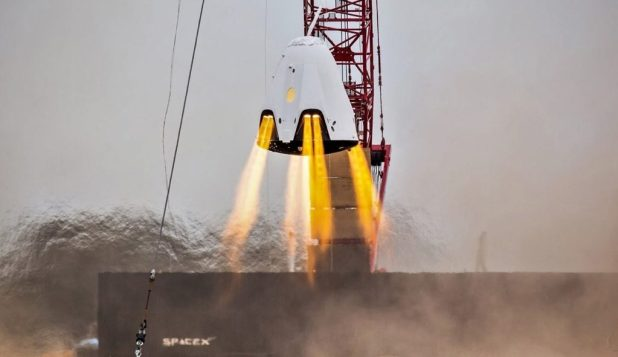 The prototype & # 39; DragonFly & # 39; of SpaceX was used briefly to test the propulsive landing capabilities of Dragon 2 before the program was canceled. Most of the technology is still part of Crew Dragon, however ... (SpaceX)