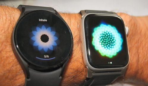 Samsung Galaxy Watch 4 vs apple watch breathe app watch4 review