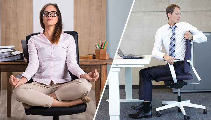13 Chair Yoga Poses To Do While Sitting At Your Desk