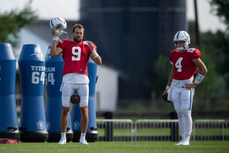 Colts' Jacob Eason, Sam Ehlinger will remain in current pecking order — for  now – The Athletic