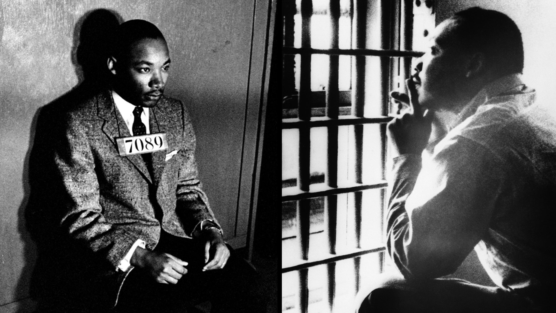 Left: King Is Ready For A Mug Shot In Montgomery, Alabama, After His 1956  Arrest While Protesting The Segregation Of The City's Buses.