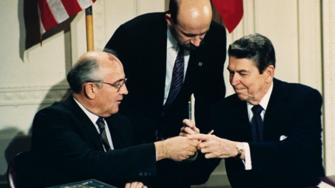 Image result for Pres. Reagan & Chairman Gorbachev