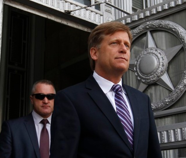 Michael Mcfaul Exits The Russian Foreign Ministry In Moscow