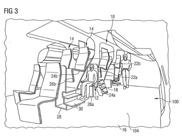 Cost-Cutting Airline Seating Could Stack Passengers on Top