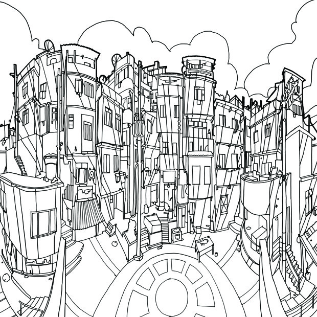 'Fantastic Structures' Is a Coloring Book for Grown-Ups