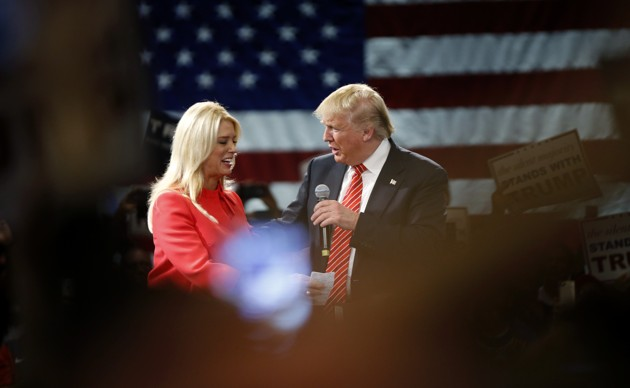Pam Bondi and Donald Trump