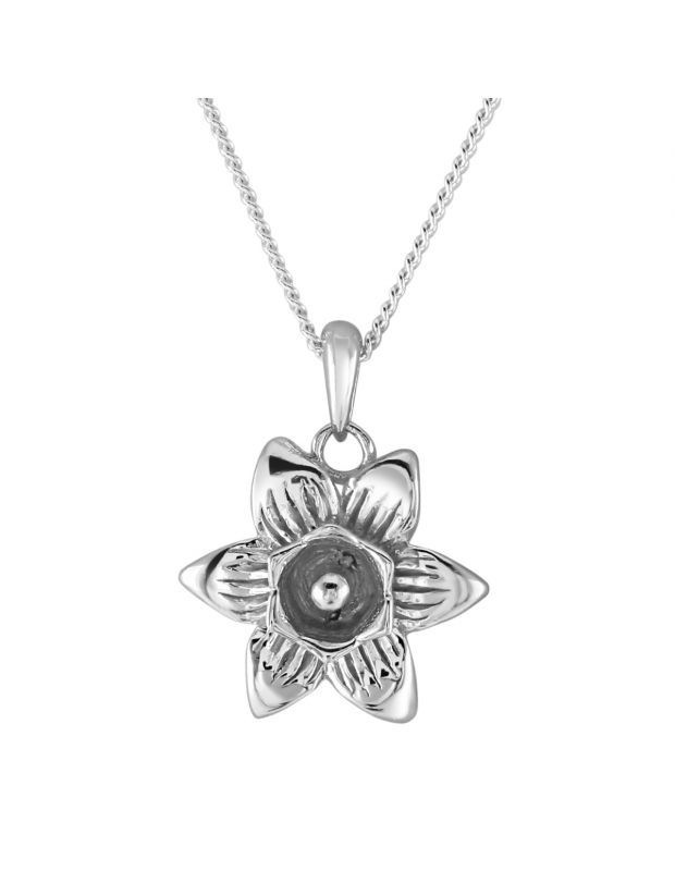 Sterling Silver SUNFLOWER Necklace with Chain
