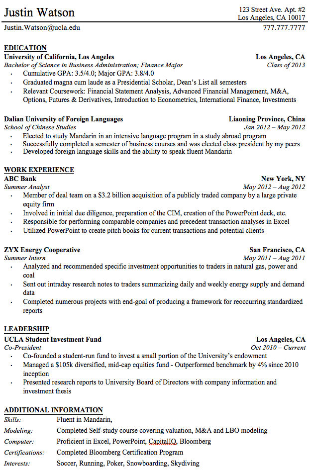 resume after you graduate