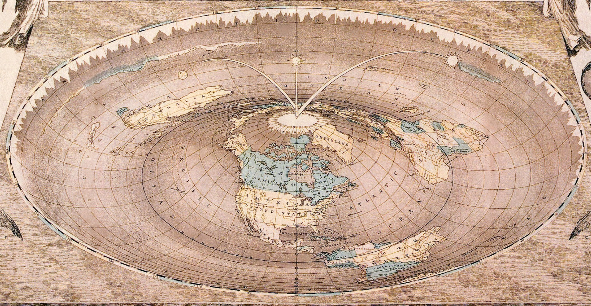 Wallpaper Falling Off Wall Flat Wrong The Misunderstood History Of Flat Earth Theories