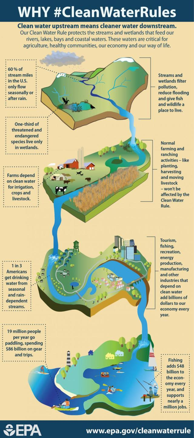 Connections between upstream and downstream waters.