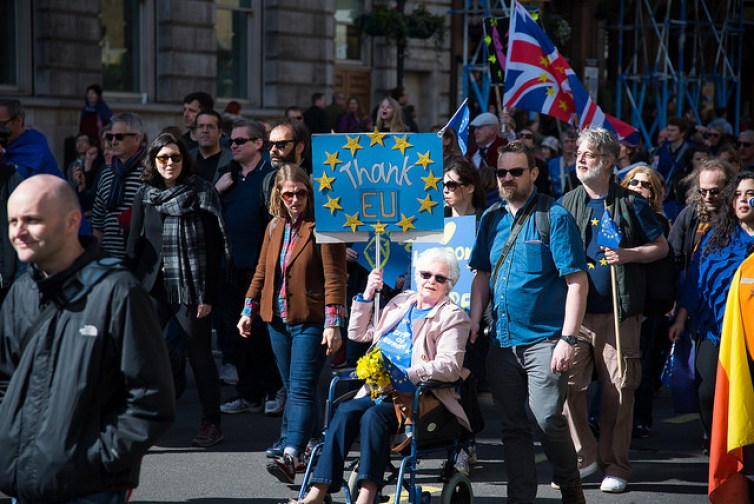 A demonstration in London promoting European unity. Credit: Gulah Ahmed/Flickr, CC BY-ND
