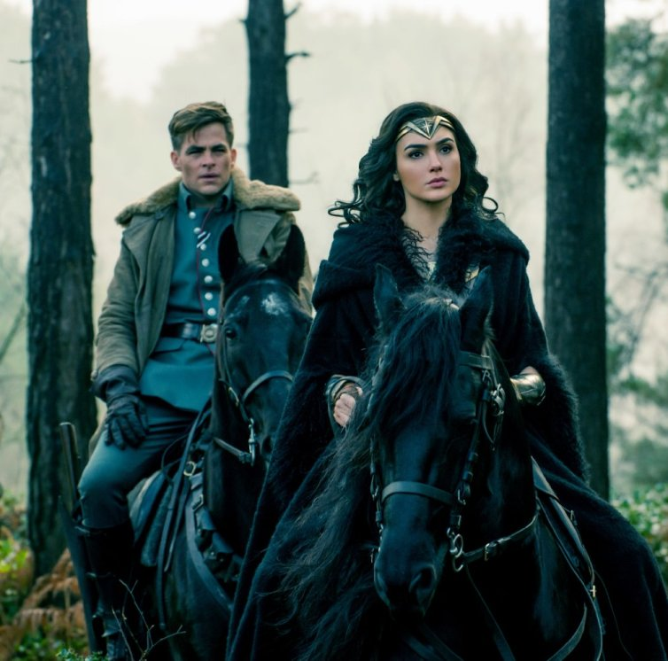 Chris Pine (left) and Gal Gadot. Credit: Atlas Entertainment/Cruel & Unusual Films/DC Entertainment/The Conversation