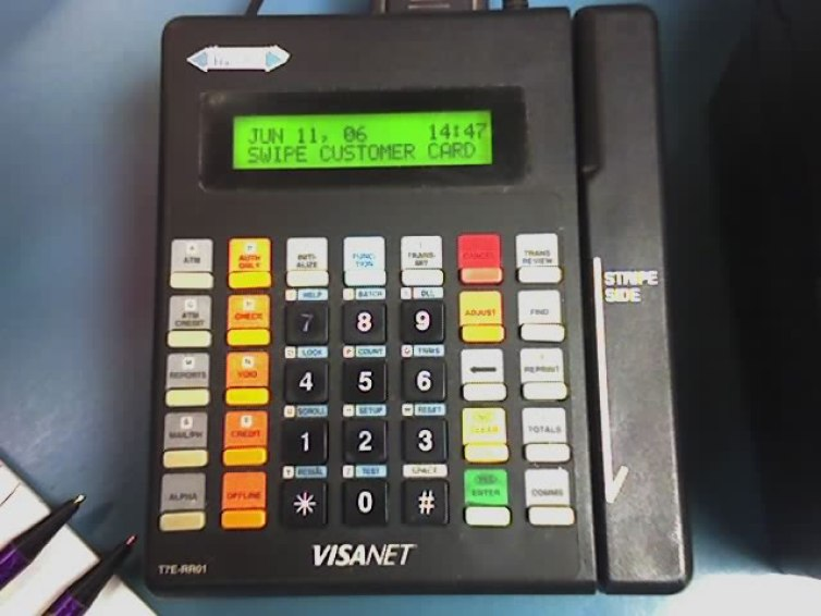 Credit card machine are sometimes used in the fraud called 'skimming' in which your card details are duplicated. Credit: Wikimedia Commons/Izcool
