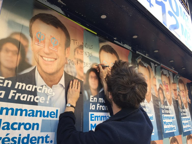 This French voter isn't easily won over. Credit: radiowood/Flickr