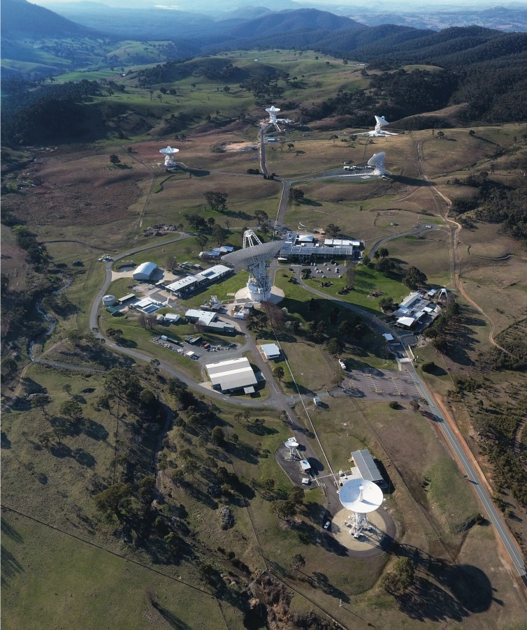 The Canberra Deep Space Communication Complex (CDSCC).