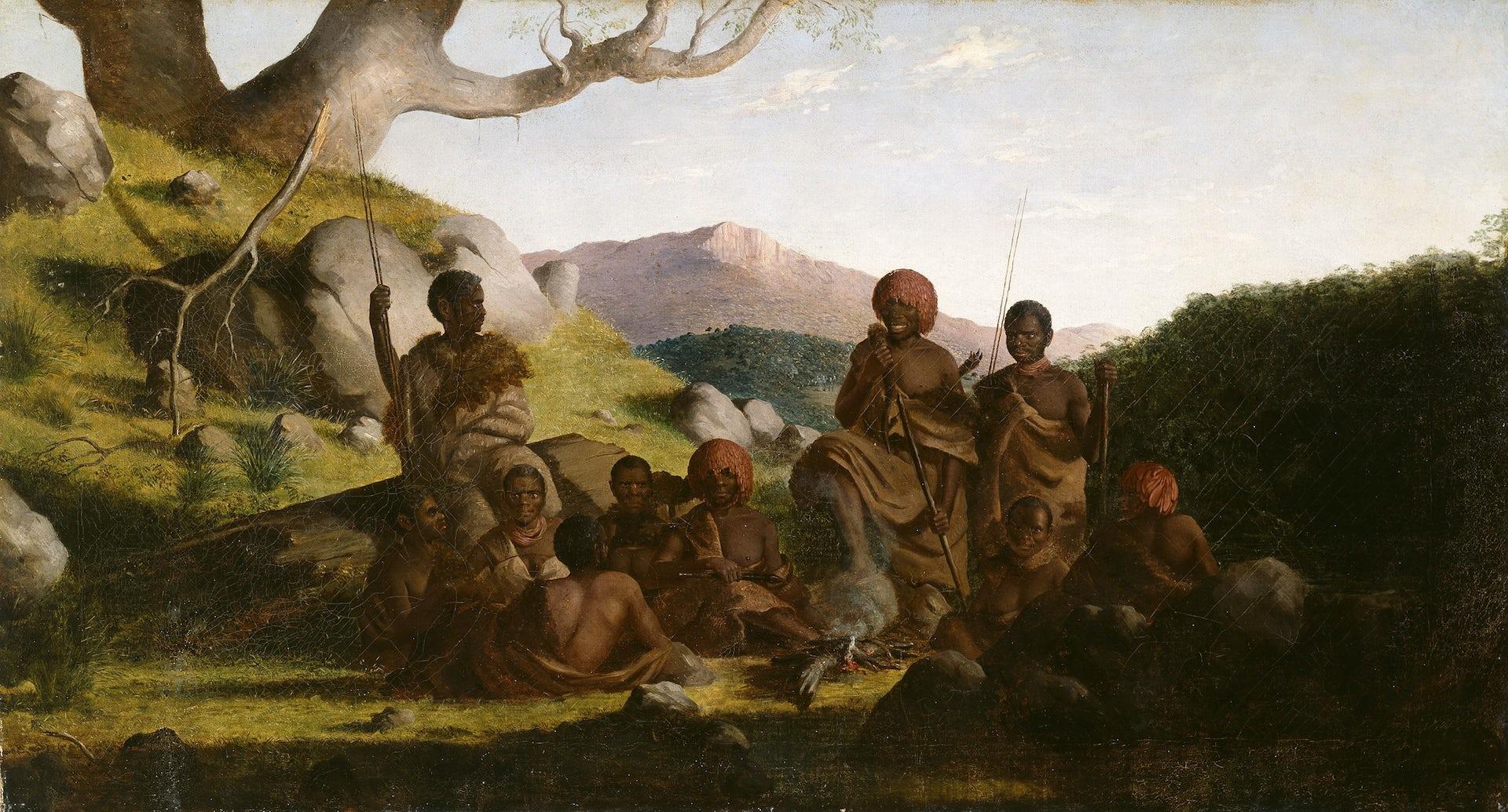 Paintings European People Black