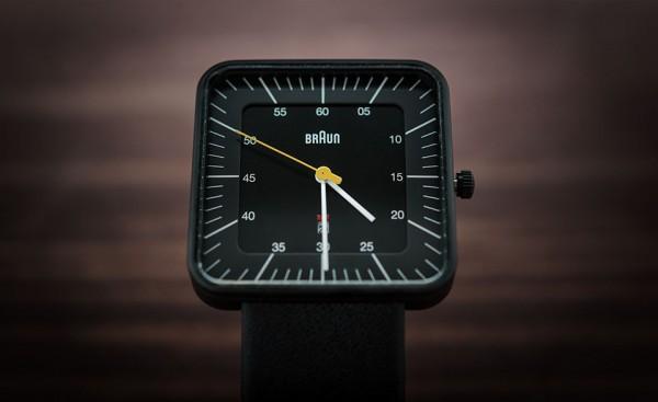Braun BN0042 Black Date Leather Watch