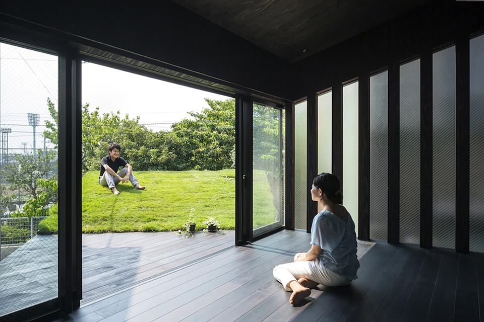 Green Roofed Grass Cave House In Yokohama