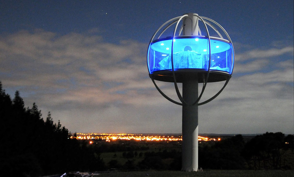 Towering Skysphere Tiny House by Jono Williams  TheCoolist