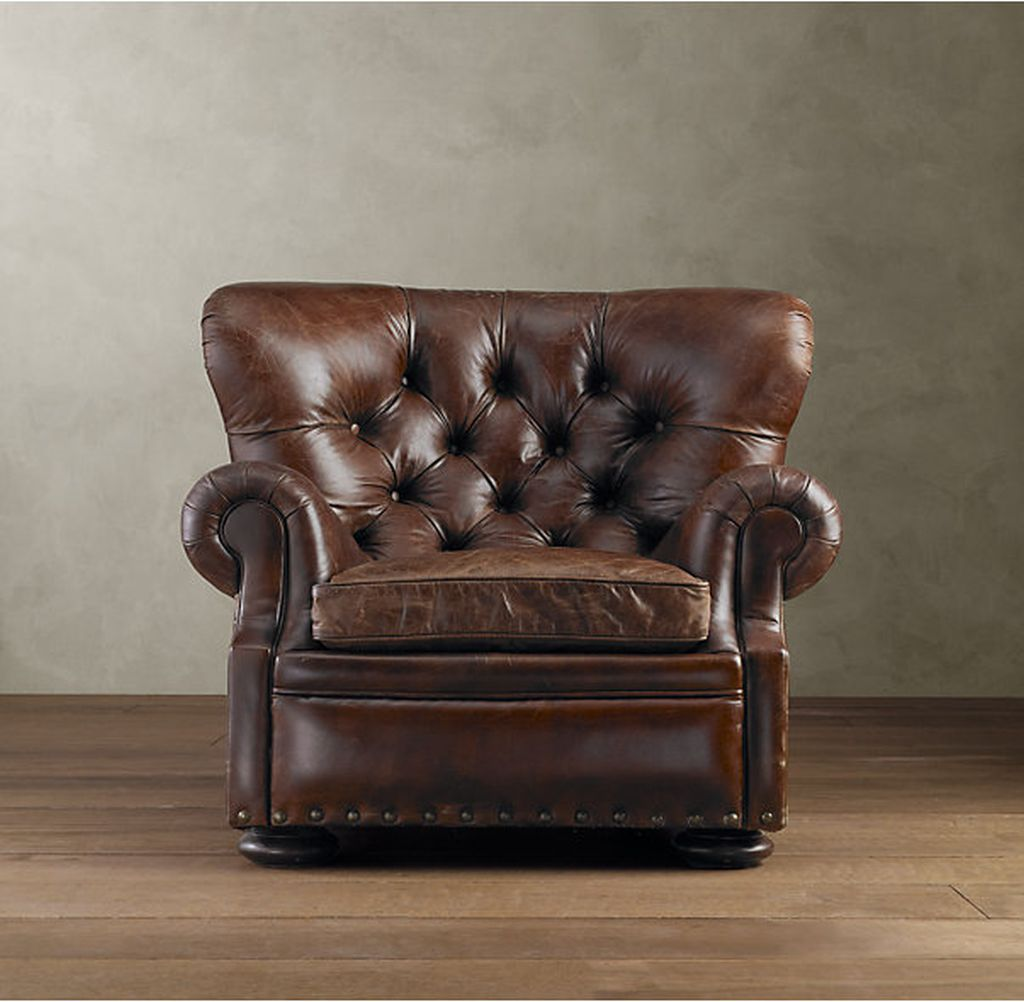 Reading Chairs Restoration Hardware Churchill Vintage Cigar Thecoolist