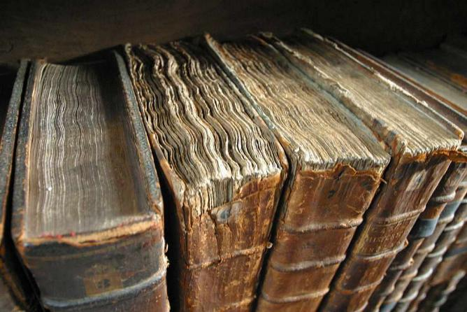 Old book bindings.jpg © Tom Murphy VII/ Wikicommons