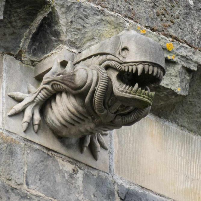 The Alien Gargoyle Of Paisley Abbey