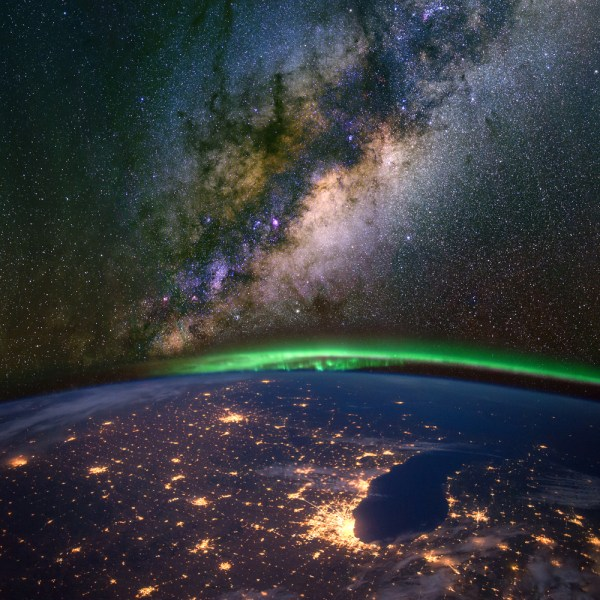 Michigan Aurora Borealis From Space