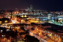 Barcelona Spain at Night