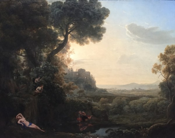 Echo' 'Landscape with Claude and Narcissus
