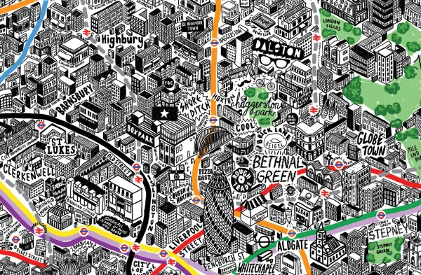 Beautiful Map Of Paris