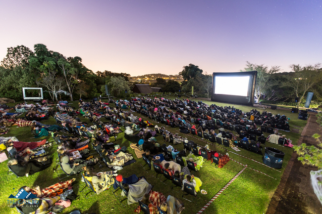 Movie under the stars at The Galileo | Courtesy of The Galileo/@Retroyspective