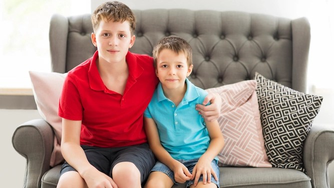 Older siblings great because they catch all the sh*t