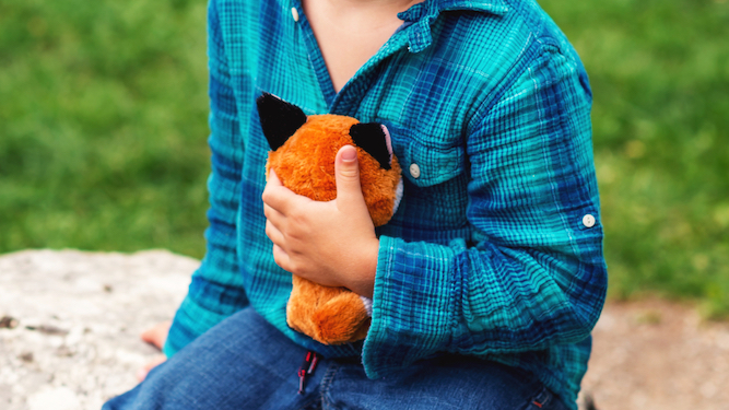 Mother realises same dirty old soft toy has been coming home from school for 13 years