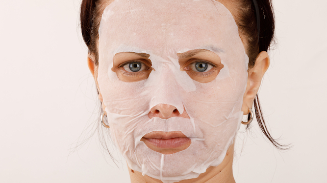 Woman hoping to bounce back from decade of drinking and smoking with sheet mask