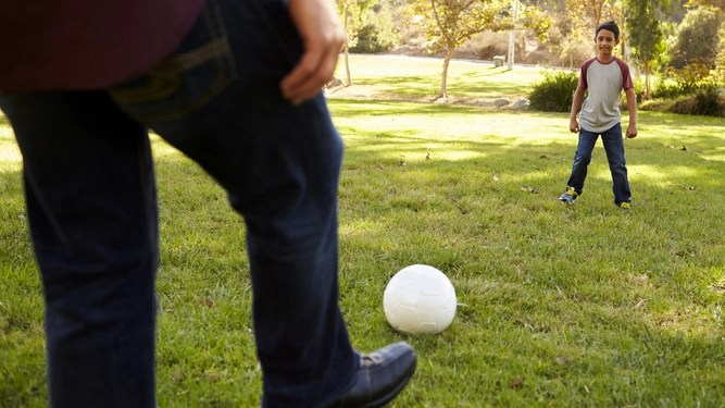 Kicking a football back, and five other challenges to your masculinity